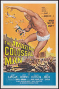 "Movie Posters:Science Fiction, The Amazing Colossal Man (American International, 1957). One Sheet(27"" X 41""). Science Fiction.. ..."