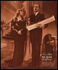 "Movie Posters:Comedy, My Man Godfrey (Universal, 1936). Jumbo Lobby Card (14"" X 17"").Comedy.. ..."