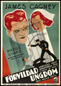 """Movie Posters:Crime, The Mayor of Hell (Warner Brothers, 1933). Swedish One Sheet (27.5""""X 39.5""""). Crime.. ..."""