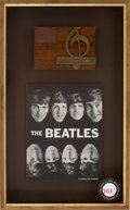 Music Memorabilia:Awards, The Beatles 1964 Music Life Award, from the Collection of DickClark....
