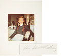 Music Memorabilia:Photos, David Bowie - Linda McCartney Signed and Numbered Photo, 14/150(circa 1974)....