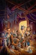 Pulp, Pulp-like, Digests, and Paperback Art, CLYDE CALDWELL (American, 20th Century). DragonLance PreludesII, Volume 2, Flint the King, paperback cover, 1990. Oil o...(Total: 2 Items)