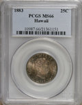 Coins of Hawaii: , 1883 25C Hawaii Quarter MS66 PCGS. PCGS Population (65/9). NGCCensus: (61/5). Mintage: 500,000. (#10987)...