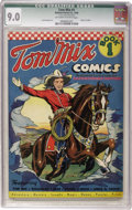 Golden Age (1938-1955):Western, Tom Mix Comics #1 (Ralston-Purina Co., 1940) CGC Qualified VF/NM9.0 Off-white to white pages....