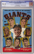 Golden Age (1938-1955):Non-Fiction, Thrilling True Story of the Baseball Giants #nn (Fawcett, 1952) CGC NM- 9.2 Off-white to white pages....