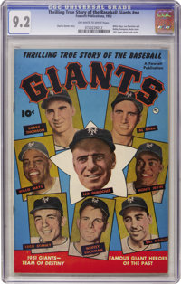 Thrilling True Story of the Baseball Giants #nn (Fawcett, 1952) CGC NM- 9.2 Off-white to white pages
