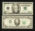Error Notes:Error Group Lots, Fr. 2075-I $20 1985 Federal Reserve Note. Very Fine.. Fr. 2084-G$20 1996 Federal Reserve Note. Very Fine.... (Total: 2 notes)