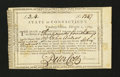 Colonial Notes:Connecticut, Connecticut Treasury Certificate £3, 4 Shillings February 1, 1789Anderson CT-26. Fine, CC with repairs....