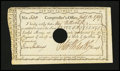 Colonial Notes:Connecticut, Connecticut Interest Certificate 5 Shillings February 12, 1789Anderson CT-50 Very Fine, HOC....