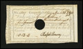 Colonial Notes:Connecticut, Connecticut Fiscal Paper. Comptroller's Office InterestCertificate. 13s/4d Mar. 26, 1790. Anderson CT49. Fine-Very Fine,HOC....