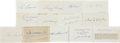 Baseball Collectibles:Others, Baseball Hall of Famers Signed Index Cards Lot of 13....