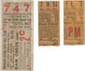 Baseball Collectibles:Tickets, 1914-25 World Series Ticket Stub and Pittsburgh Stub Lot of 3....