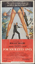 "Movie Posters:James Bond, For Your Eyes Only (United Artists, 1981). International ThreeSheet (41"" X 75""). James Bond.. ..."