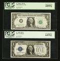 Small Size:Group Lots, Matching Serial Number 85 Pair.. ... (Total: 2 notes)