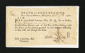 Colonial Notes:Connecticut, Connecticut Fiscal Paper. Pay Table Office. £10 Oct. 9, 1781. Very Fine-Extremely Fine....