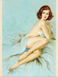 Pin-up and Glamour Art, CHARLES FRACE (American, 1926-2005). Call Me Bad, paperbackcover, 1960. Oil on board. 23.5 x 17.5 in.. Signed lower rig...