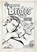 Original Comic Art:Covers, True Brides' Experiences #11 Cover Original Art (Harvey,1955)....