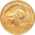 Commemorative Gold, 1915-S $50 Panama-Pacific 50 Dollar Round--Improperly Cleaned--NGC. Unc Details....