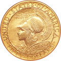 Commemorative Gold, 1915-S $50 Panama-Pacific 50 Dollar Round--Improperly Cleaned--NGC.Unc Details....