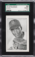 "Baseball Cards:Singles (1940-1949), 1947 Bond Bread Jackie Robinson ""Portrait"" SGC 92 NM/MT+ 8.5 -Highest Graded Example!..."