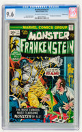 Bronze Age (1970-1979):Horror, Frankenstein #1 Western Penn pedigree (Marvel, 1973) CGC NM+ 9.6Off-white to white pages....