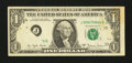 Error Notes:Foldovers, Fr. 1910-J $1 1977A Federal Reserve Note. Very Fine.. ...