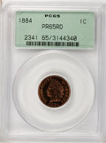 Proof Indian Cents, 1884 1C PR65 Red PCGS....