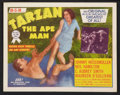 "Movie Posters:Adventure, Tarzan the Ape Man (MGM, R-1954). Title Lobby Card and Lobby Cards(5) (11"" X 14""). Adventure.. ... (Total: 6 Items)"