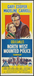 "Movie Posters:Adventure, North West Mounted Police (Paramount, R-1950s). Australian Daybill(13.25"" X 30""). Adventure.. ..."