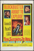 "Movie Posters:War, Ten Seconds to Hell (United Artists, 1959). One Sheet (27"" X 41"").War.. ..."