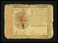 Colonial Notes:Continental Congress Issues, Continental Currency January 14, 1779 $80 Fine-Very Fine....
