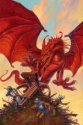 Pulp, Pulp-like, Digests, and Paperback Art, DARRELL K. SWEET (American, b. 1934). Dragon's Eye, paperbackcover, 1994. Acrylic on board. 24 x 16 in.. Initialed lowe...