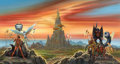 Paintings, DAVID MATTINGLY (American, 20th Century). Wall Around a Star, paperback cover, 1987. Acrylic on board. 15 x 28 in.. Sign... (Total: 2 Items)