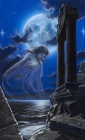 Paintings, MARK MAXWELL (American, 20th Century). Night Myth, 1989. Acrylic on board. 26 x 16.5 in.. Signed lower left. ...