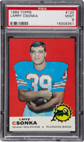 Football Cards:Singles (1960-1969), 1969 Topps Larry Csonka Rookie Card #120 PSA Mint 9 - No Example Graded Higher!...
