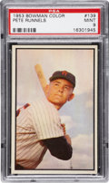 Baseball Cards:Singles (1950-1959), 1953 Bowman Color Pete Runnels #139 PSA Mint 9 - Pop 1-of-4 HighestGraded!...