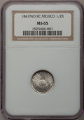 Mexico, Mexico: Republic Half Real 1847-MO RC,...