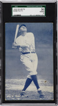 Baseball Cards:Singles (Pre-1930), 1928 Exhibits Babe Ruth SGC 30 Good 2....