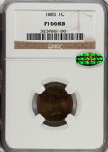 Proof Indian Cents: , 1885 1C PR66 Red and Brown NGC. CAC. NGC Census: (48/10). PCGS Population (33/18). Mintage: 3,790. Numismedia Wsl. Price fo...