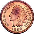 Proof Indian Cents, 1898 Indian Cent PR65 Red and Brown NGC....