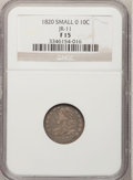 Bust Dimes: , 1820 10C Small 0 Fine 15 NGC. JR-11. PCGS Population (1/12).Numismedia Wsl. Price for problem free NG...