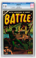Golden Age (1938-1955):War, Battle #31 (Marvel, 1954) CGC FN/VF 7.0 Off-white pages....