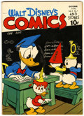Golden Age (1938-1955):Cartoon Character, Walt Disney's Comics and Stories #37 (Dell, 1943) Condition:FN+....