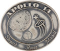 Transportation:Space Exploration, Apollo 14 Flown Silver Robbins Medallion Originally from thePersonal Collection of Backup Command Module Pilot Ron Evans,Ser...