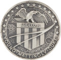 Transportation:Space Exploration, Apollo 16 Unflown Silver Robbins Medallion Originally from thePersonal Collection of Mission Commander John Young....