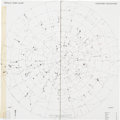 Transportation:Space Exploration, Apollo 15 Flown Two-Piece, Northern Hemisphere Star Chart Originally from the Personal Collection of Mission Command Module Pi...