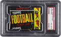 Football Cards:Boxes & Cases, 1961 Topps Football 1-Cent Wax Pack PSA NM-MT 8. ...
