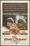 "Movie Posters:War, The Sea Chase (Warner Brothers, 1955). One Sheet (27"" X 41""). War....."