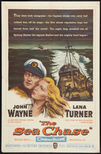 """The Sea Chase (Warner Brothers, 1955). One Sheet (27"""" X 41""""). War"""