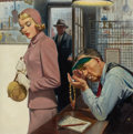 Mainstream Illustration, WALTER MARTIN BAUMHOFER (American, 1904-1987). Pawn Shop.Oil on board. 21 x 20.5 in.. Not signed. ...